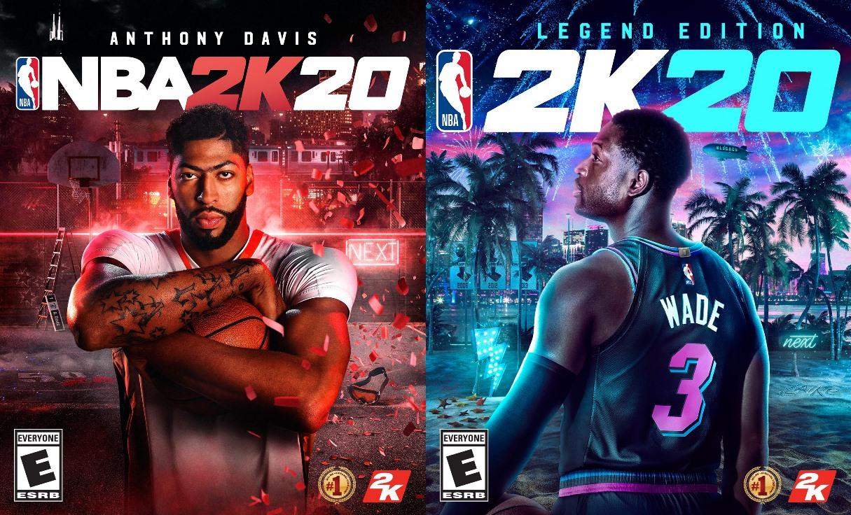 2K Games anuncia oficialmente NBA 2K20 para o Nintendo Switch, Anthony Davis e Dwyane Wade serão os destaques deste ano