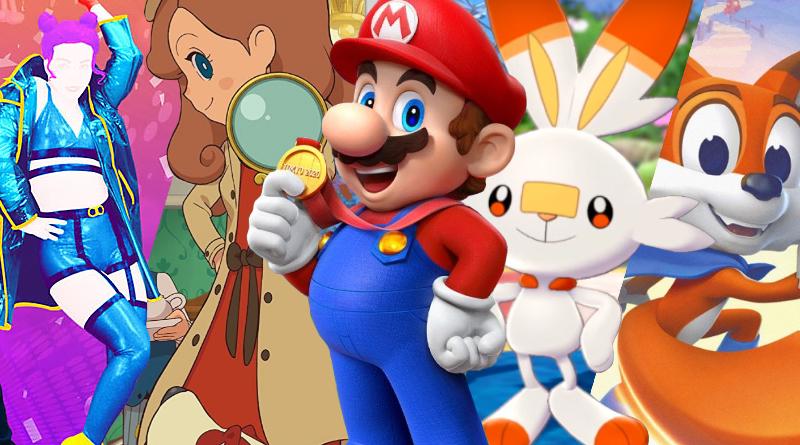Lançamentos em mídia física para o Nintendo Switch no mês de Novembro