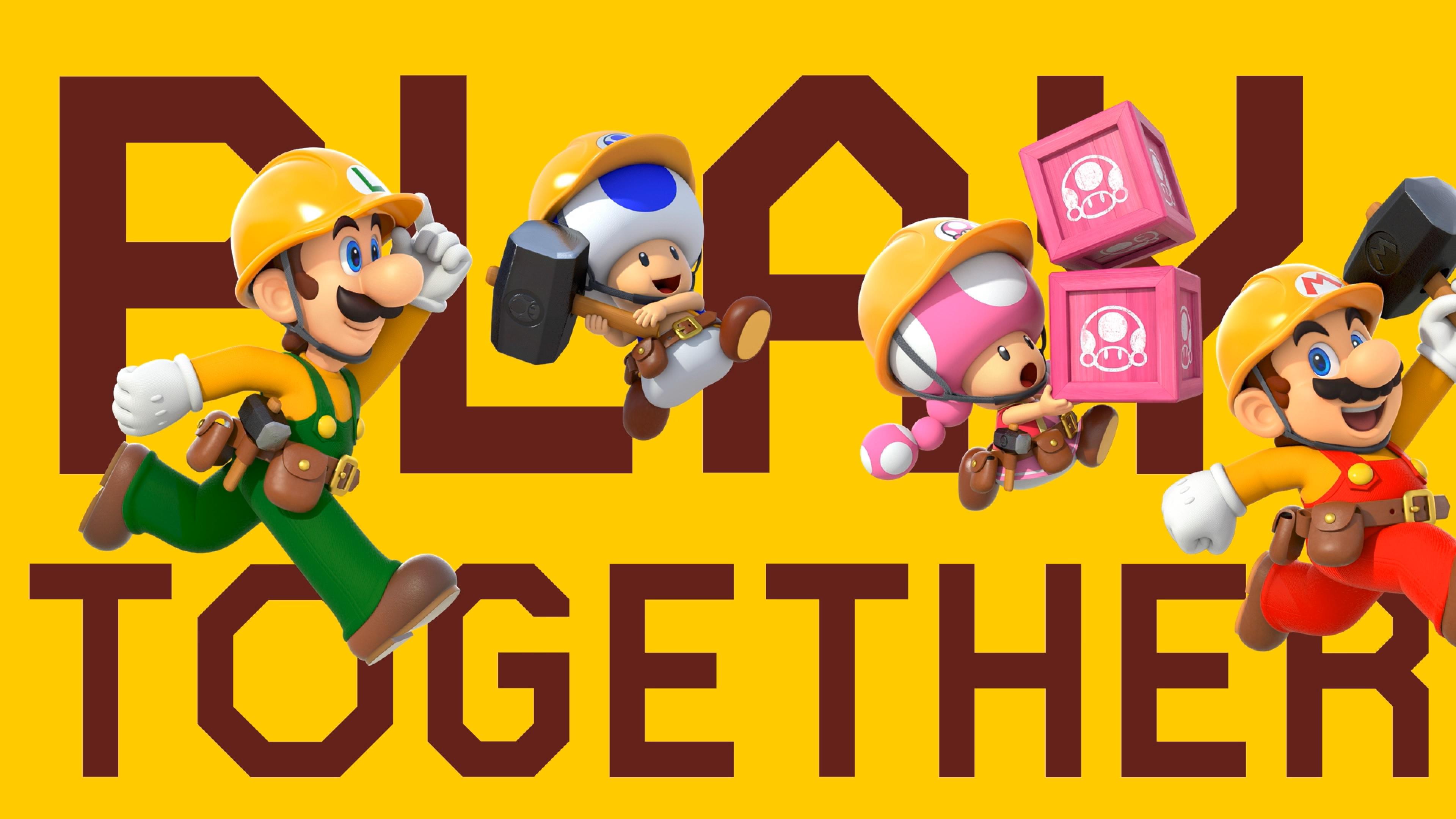 """Super Mario Maker 2 recebe nova atualização (1.1.0) – Novo modo """" Play with friends"""" para jogar cooperativo online, """"LAN play"""" e muito mais"""
