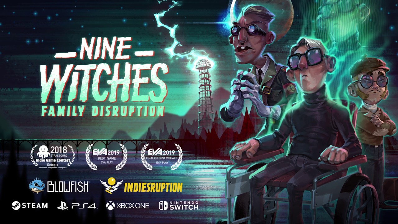 Blowfish Studios anuncia o jogo de aventura Nine Witches: Family Disruption para o Nintendo Switch
