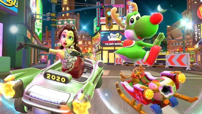 [Mobile] Mario Kart Tour – Novo trailer focado no conteúdo da Holiday Tour