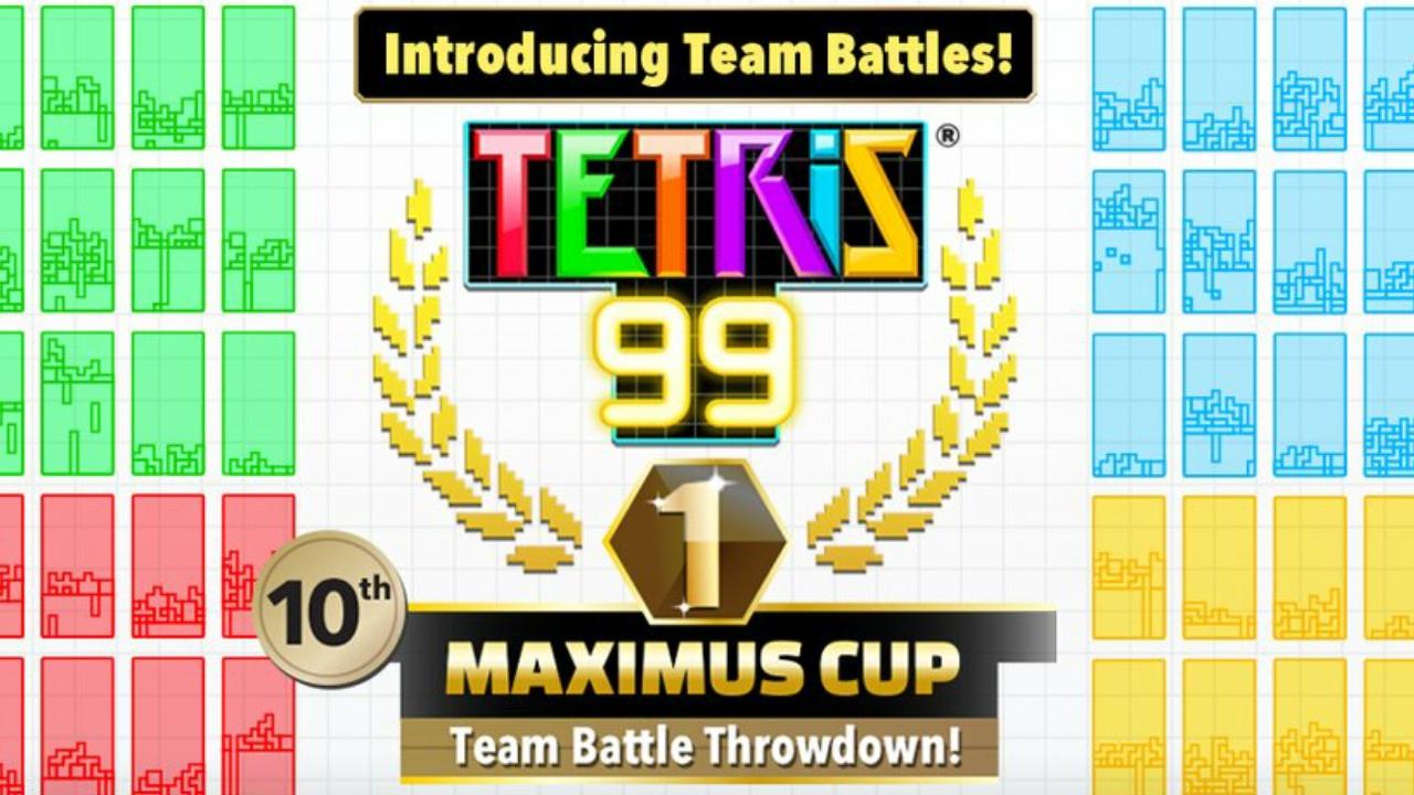 Tetris 99 – 10ª Maximus Cup acontecerá nesta semana onde irá promover o novo Team Battle Mode