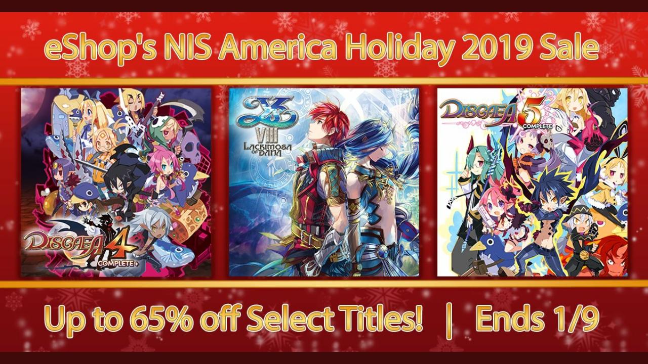 NIS America Holiday Sale – The Caligula Effect: Overdose, The Alliance Alive HD Remastered, jogos de Disgaea e mais jogos com até 65% de desconto na eShop