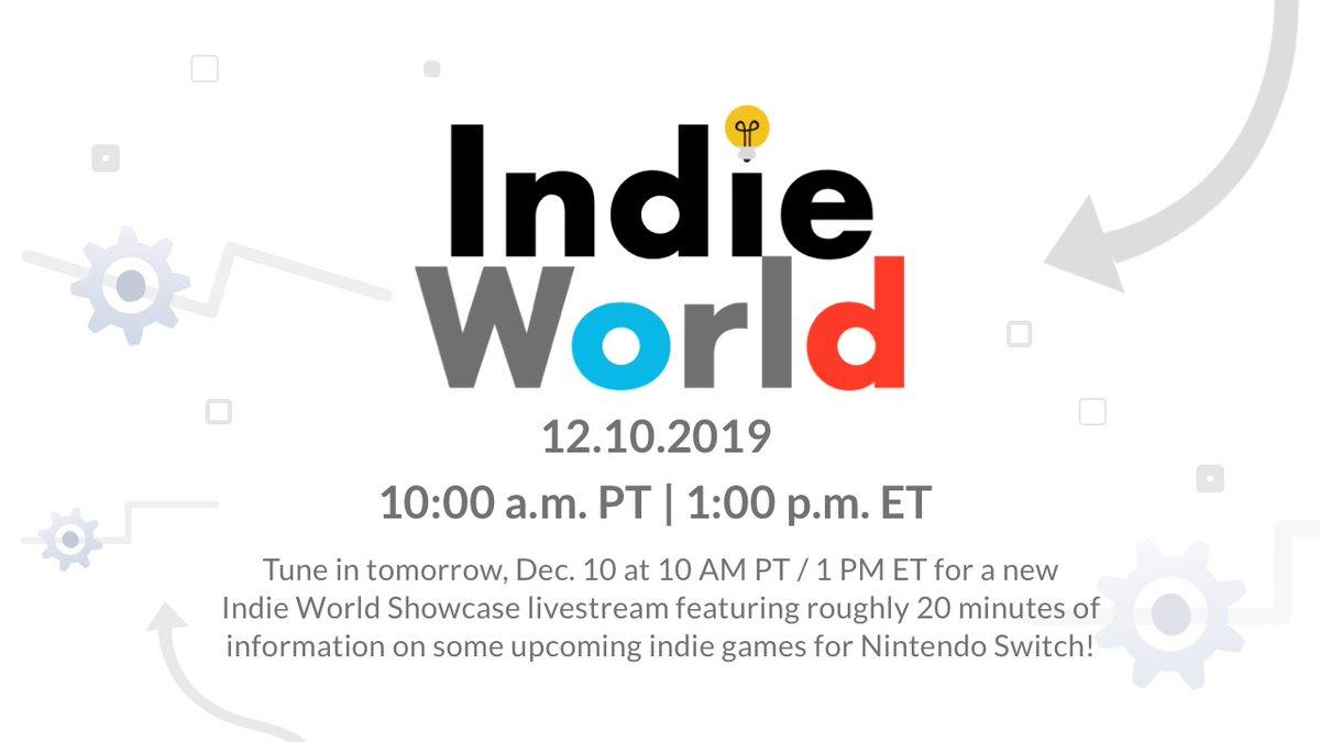 Nintendo anuncia apresentação do Indie World Showcase para está terça-feira