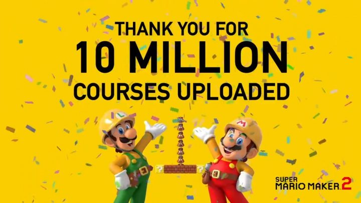 Super Mario Maker 2 já conta com mais de 10 milhões de fases compartilhadas, limite de upload aumentado para 100 fases