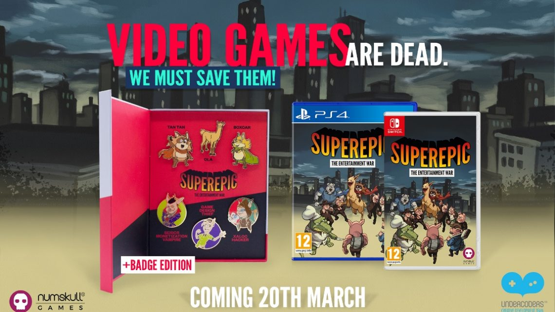 Numskull Games anuncia versão física limitada do jogo de aventura SuperEpic para o Nintendo Switch