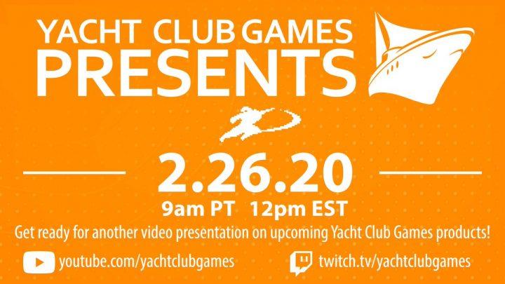 Yacht Club Games anuncia apresentação para o dia 26 de fevereiro; Prometem surpresas
