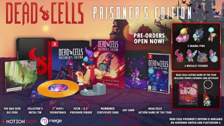 Merge Games anuncia a edição física Dead Cells – The Prison's Edition para o Nintendo Switch, trailer animado para a DLC The Bad Seed