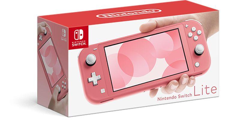 Nintendo revela novo Nintendo Switch Lite na cor Coral