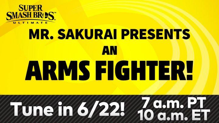 Super Smash Bros. Ultimate – Transmissão ao vivo apresentando o novo lutador vindo de ARMS acontecerá na próxima semana, 22 de junho
