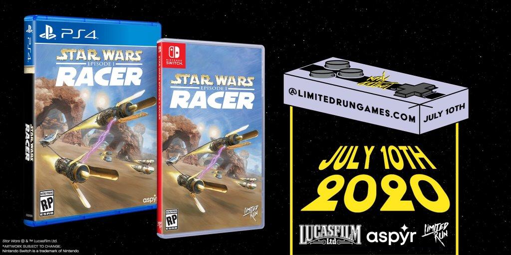 Star Wars Episode I: Racer está ganhando edição física na América do Norte pela Limited Run Games