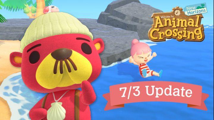 Animal Crossing: New Horizons – Atualização (1.3.0) que adiciona natação e mergulho, Gulliver e Pascal já esta disponível