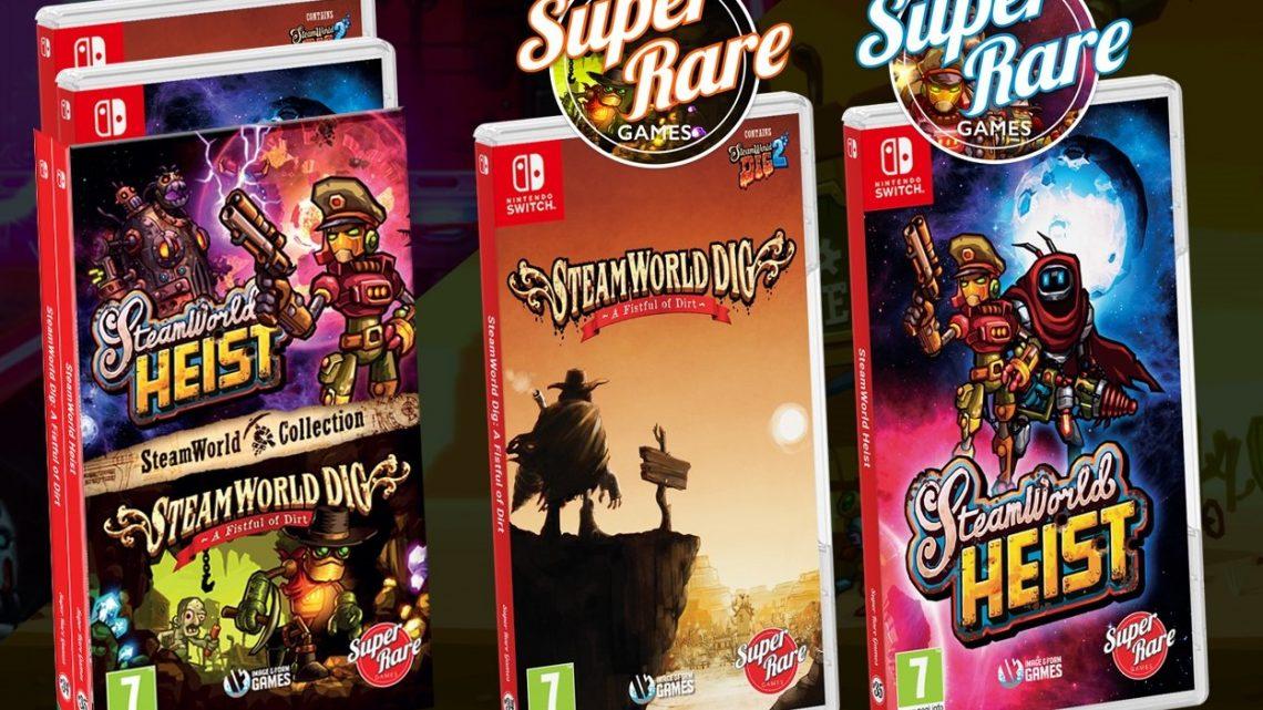 SteamWorld Dig e SteamWorld Heist estão recebendo edição física pela Super Rare Games na Europa