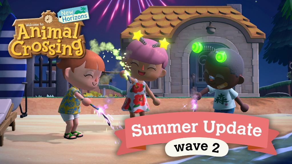 """Animal Crossing: New Horizons – Nova atualização (1.4.0) já está disponível, inclui o conteúdo do """"Summer Update – Wave 2"""" e correções"""