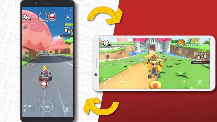 Mario Kart Tour receberá nova atualização onde adiciona a possibilidade de jogar em modo landscape