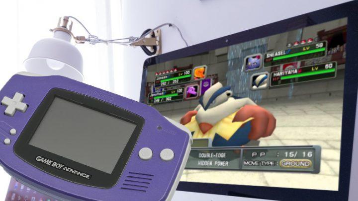 iQue propôs um jogo online de Pokémon para PC onde utilizava o GameBoy Advance como controle