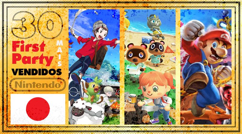 Japão: Os 30 jogos First Party de Nintendo Switch mais vendidos até o momento (Agosto/2020)