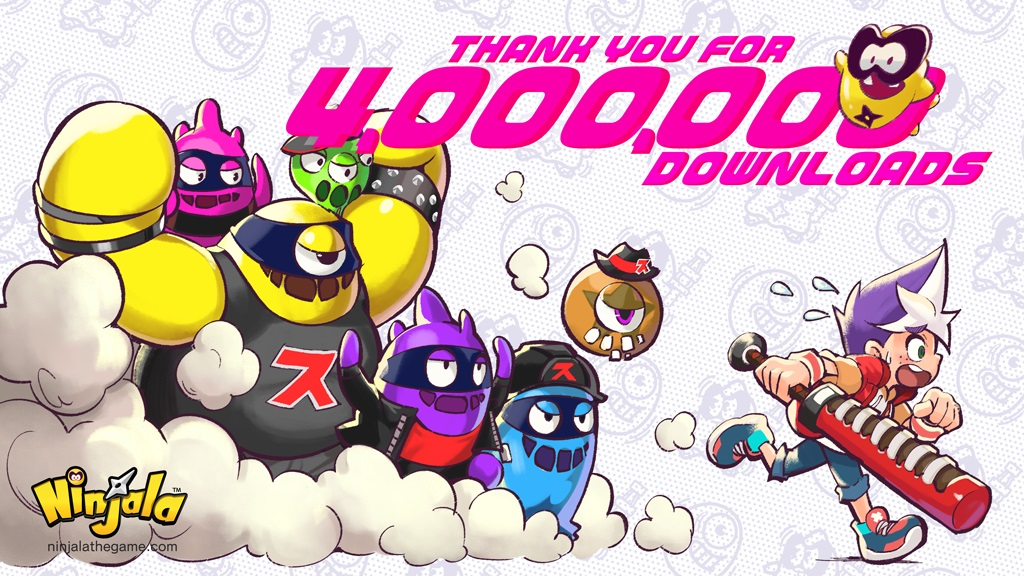 Ninjala ultrapassa 4 milhoes de downloads no mundo inteiro, jogadores receberão 100 Jala