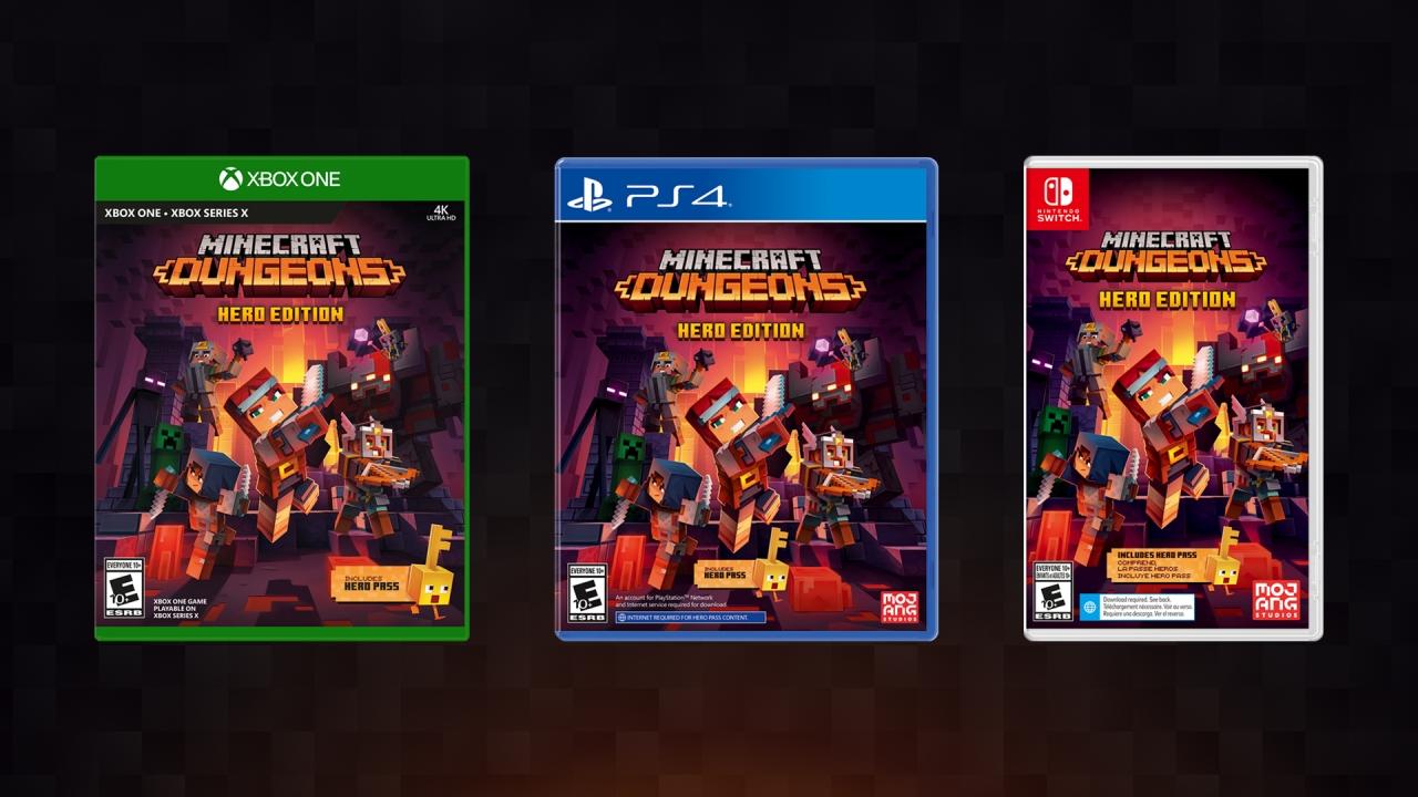 Minecraft Dungeons  Edição física e DLC gratuita Creeping Winter