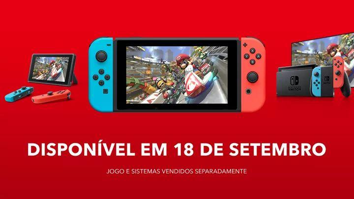 Nintendo Switch chega oficialmente ao Brasil em 18 de setembro por R$ 2.999,99