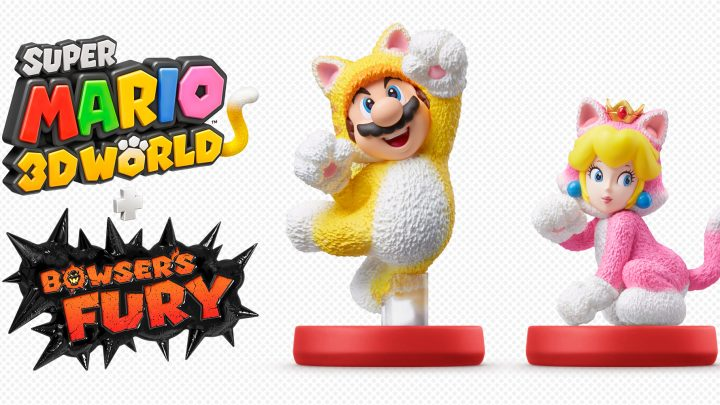 Super Mario 3D World + Bowser's Fury – amiibos de Cat Mario e Cat Peach são revelados