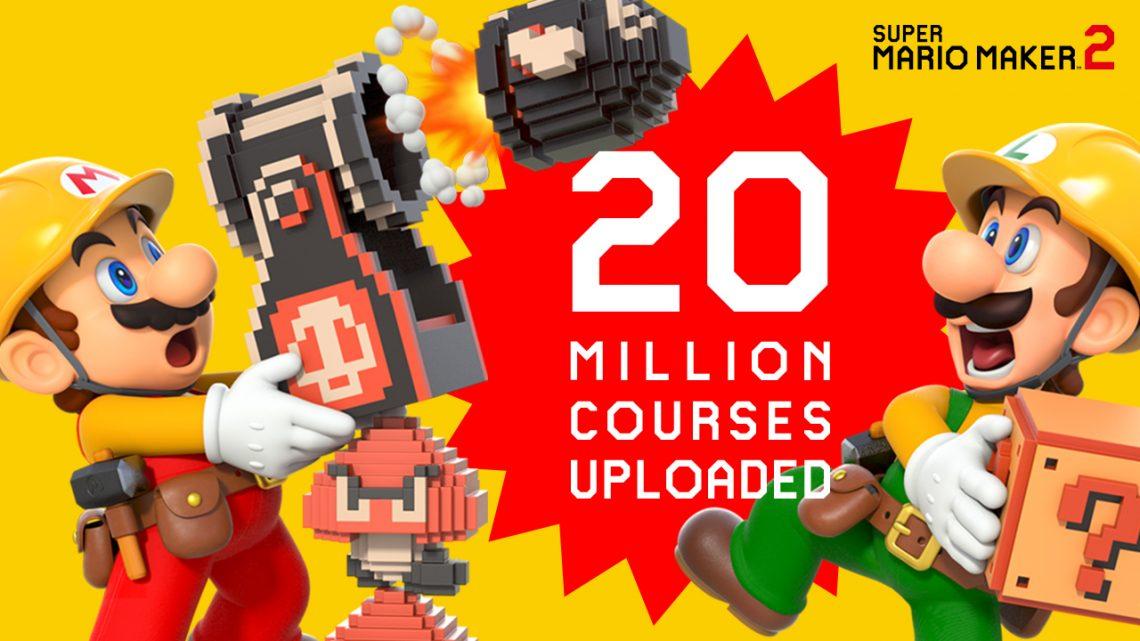 Super Mario Maker 2 já conta com mais de 20 milhões de fases postadas pelos jogadores online