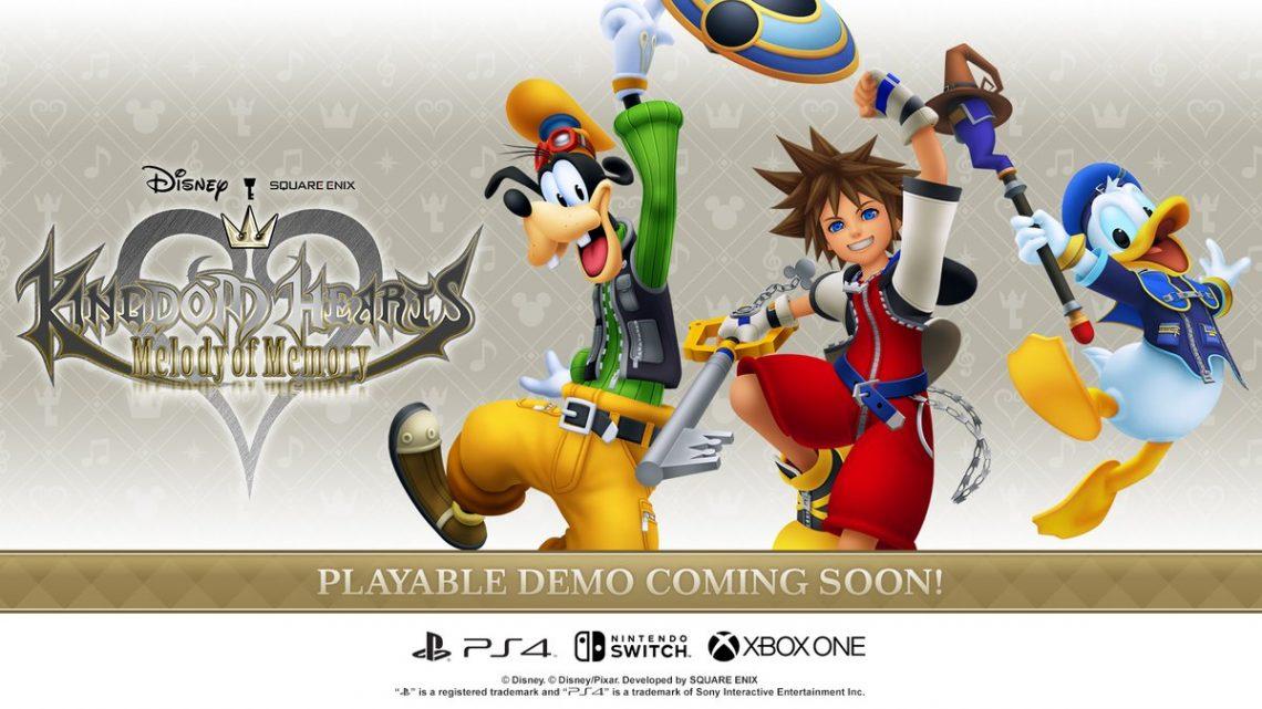 Kingdom Hearts: Melody of Memory receberá demo gratuita em meados de outubro