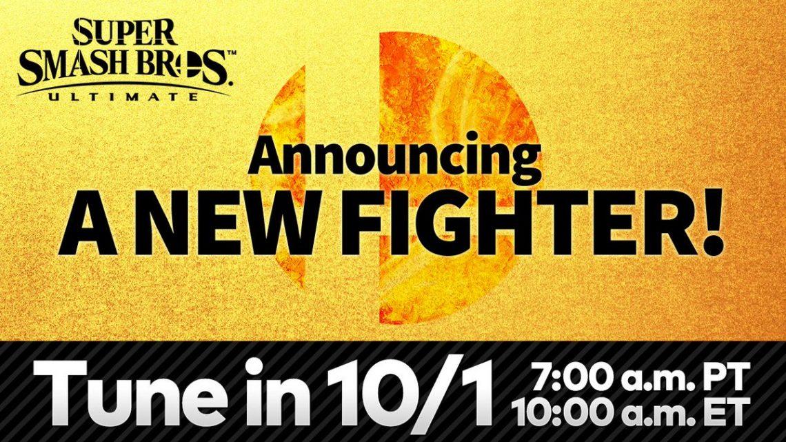 Super Smash Bros. Ultimate | Próximo lutador do Fighters Pass Vol. 2 será revelado nesta quinta-feira, 01 de outubro