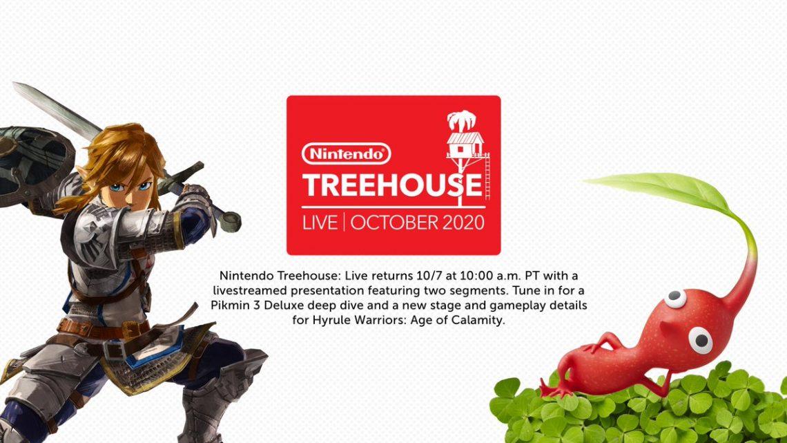 Nintendo anuncia transmissão do Nintendo Treehouse Live com foco em Hyrule Warriors: Age of Calamity e Pikmin 3 Deluxe para quarta-feira, 07 de outubro