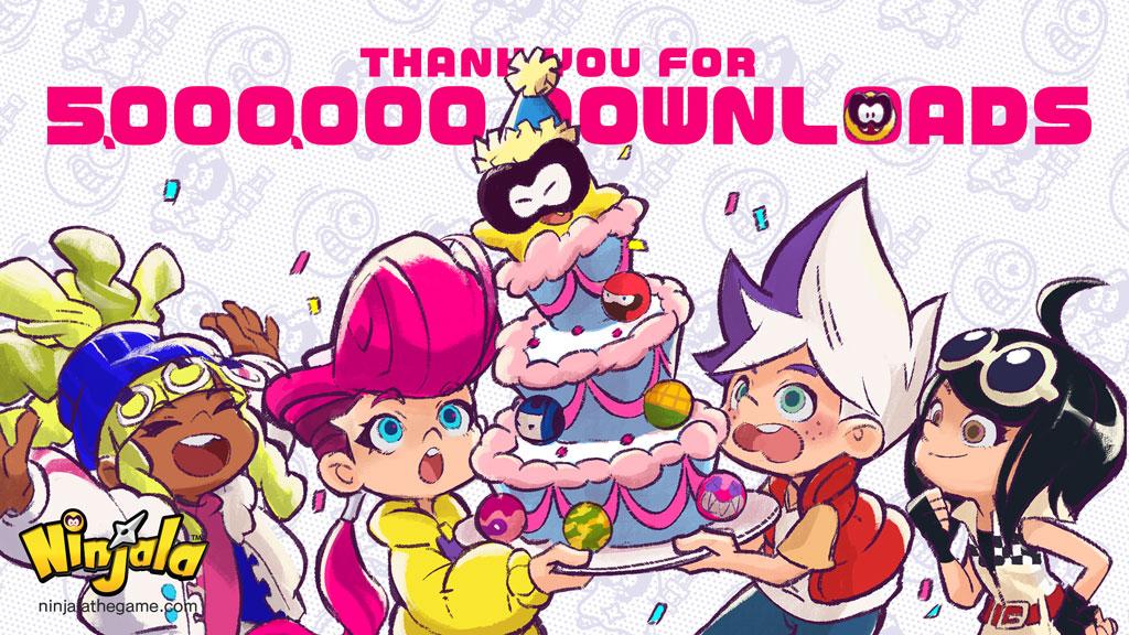 Ninjala ultrapassa 5 milhões de downloads no mundo inteiro, jogadores receberão 100 Jala em comemoração ao marco
