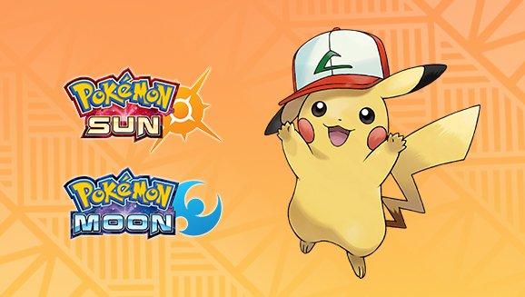 Pokémon Sun/Moon | Distribuição do Pikachu com boné de Kanto já esta disponível