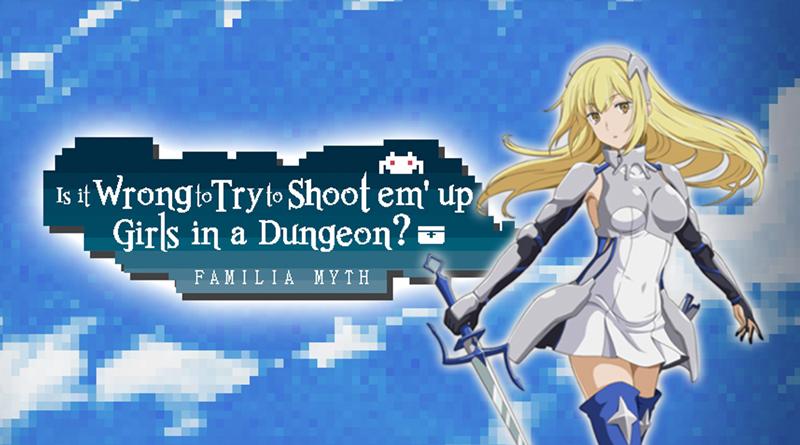 PQube anuncia o shoot 'em up Is It Wrong to Try to Shoot 'Em Up Girls in a Dungeon? para o Nintendo Switch, já disponível de graça na eShop