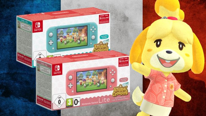 Fnac da França lista bundle do Nintendo Switch Lite com Animal Crossing: New Horizons