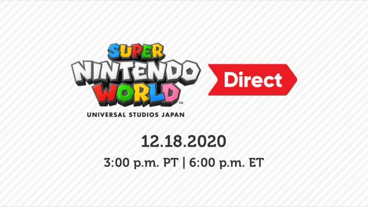 Nintendo anuncia o Super Nintendo World Direct para está sexta-feira, 18 de dezembro