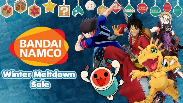 Bandai Namco Winter Meltdown Sale | Ofertas de até 84% de desconto em jogos como Taiko no Tatsujin: Drum 'n' Fun!, Digimon Story Cyber Sleuth: Complete Edition, jogos de One Piece, e muito mais