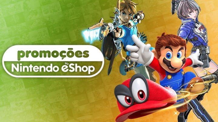 Promoções na eShop Brasil   Ofertas de até 50% de desconto em The Legend of Zelda: Breath of the Wild, Astral Chain, Super Mario Odyssey, e mais