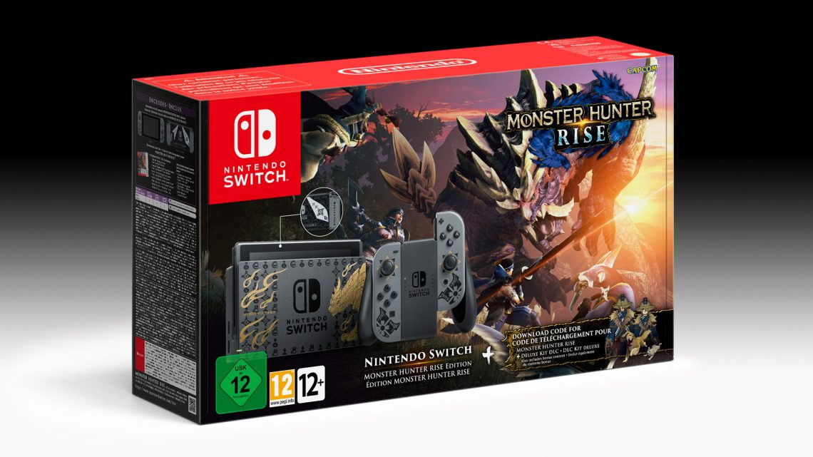 Bundle do Nintendo Switch temático de Monster Hunter Rise é revelado
