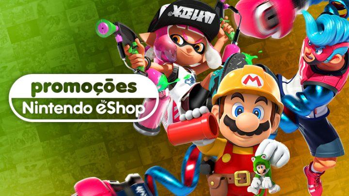 Promoções na eShop Brasil | Super Mario Maker 2, ARMS, Splatoon 2, Captain Toad: Treasure Tracker, e muito mais
