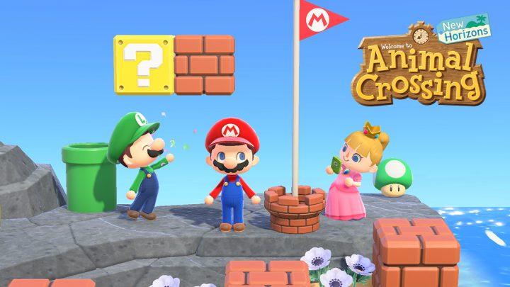 Animal Crossing: New Horizons   Nova atualização (1.8.0) já está disponível, inclui móveis e itens de moda com tema Super Mario Bros. para o mês de março, itens sazonais, e mais