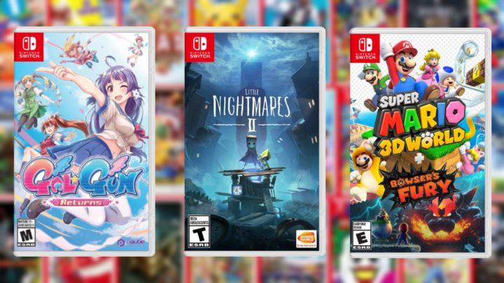 Lançamentos em formato físico da semana | Super Mario 3D World + Bowser's Fury, Gal*Gun Returns, Little Nightmares II