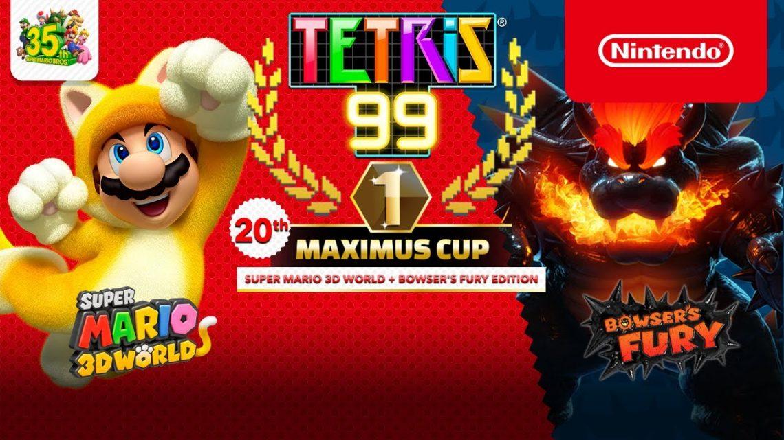 Tetris 99   20th Maximus Cup, com o tema Super Mario 3D World + Bowser's Fury, acontecerá nesta sexta-feira, 05 de março
