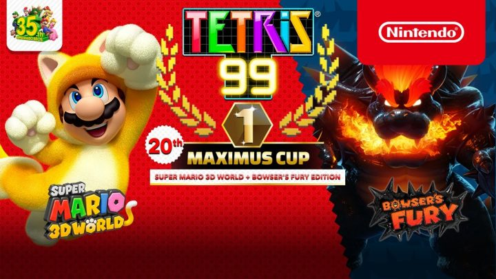 Tetris 99 | 20th Maximus Cup, com o tema Super Mario 3D World + Bowser's Fury, acontecerá nesta sexta-feira, 05 de março
