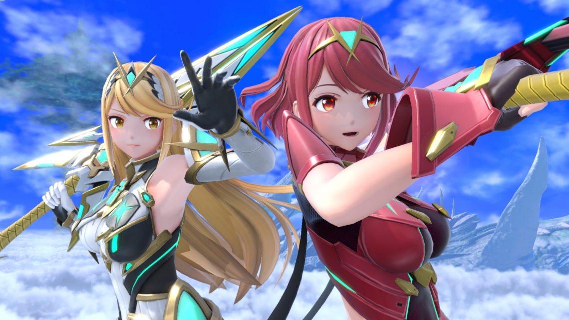"""Super Smash Bros. Ultimate   Personagem de DLC Pyra/Mythra estará disponível hoje como parte do """"Fighters Pass Vol. 2""""; Revelado novos trajes para os Mii Fighters"""