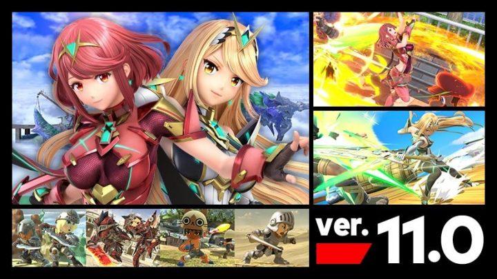 Super Smash Bros. Ultimate | Nova atualização (1.1.0.0) já está disponível, inclui o novo personagem de DLC Pyra/Mythra