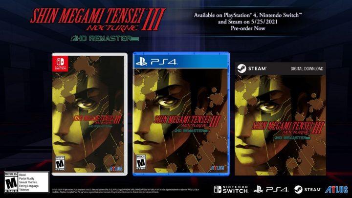 Shin Megami Tensei III: Nocturne HD Remaster chega ao Nintendo Switch em 25 de maio na América do Norte e Europa
