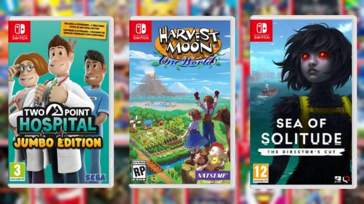 Lançamentos em formato físico da semana | Harvest Moon: One World, Two Point Hospital: JUMBO Edition, Sea of Solitude: The Director's Cut, e mais