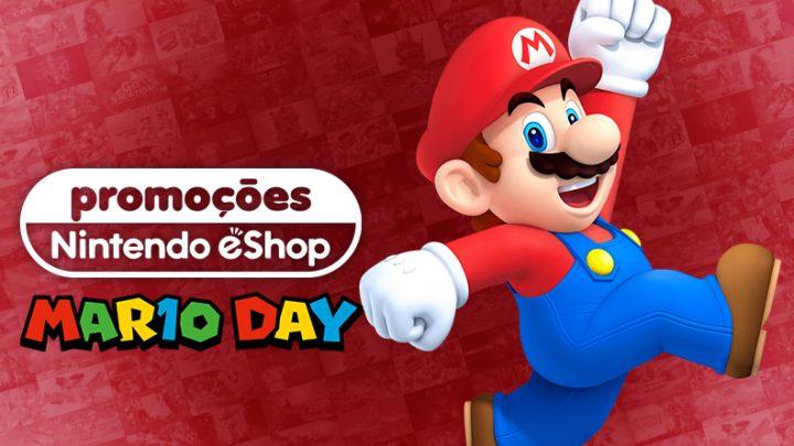 Happy MAR10 Day | Ofertas de até 35% de desconto na eShop Brasil em jogos como Luigi's Mansion 3, Super Mario Maker 2, Super Mario Party, e mais