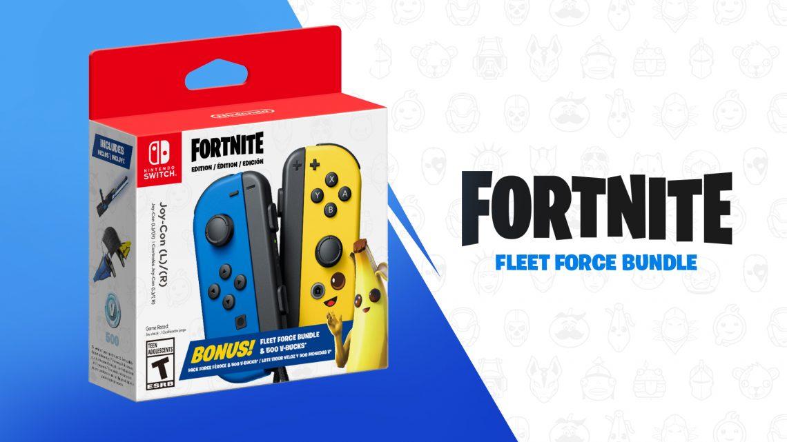 """Nintendo anuncia o """"Joy-Con Fortnite Fleet Force Bundle"""", inclui o par de controles do Nintendo Switch, 500 V-Bucks e cosméticos no jogo"""