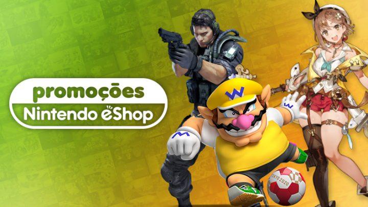 Promoções na eShop Brasil | Ofertas de até 80% de desconto em jogos como Mario & Sonic at the Olympic Games Tokyo 2020, jogos de Resident Evil, e muito mais
