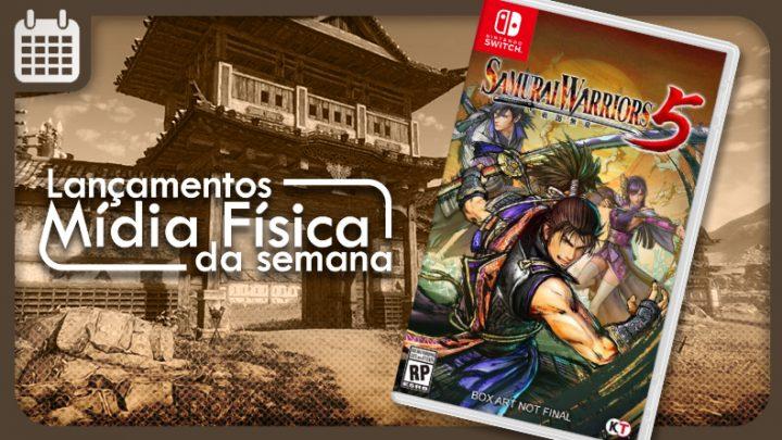 Lançamentos em mídia física da semana   Samurai Warriors 5, NEO: The World Ends With You, e mais
